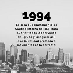 1994 - Departamento Calidad Interna MST