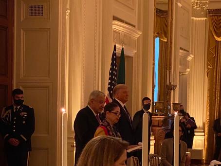 Asi se vivió: AMLO cena con Trump y empresarios mexicanos en Washington
