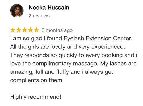 Eyelash Extensions Testimonials
