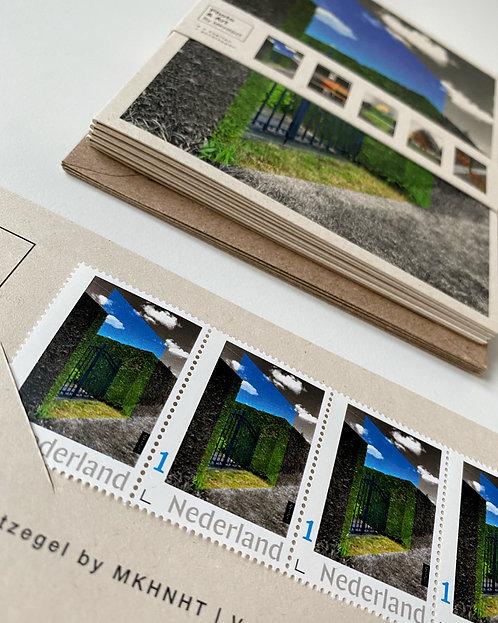KAARTENSET + POSTNLZEGELS  uit de serie #Kunstlicht (5 x)