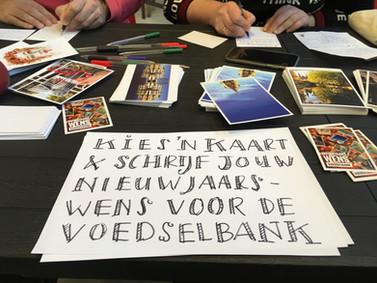 Schrijven in de Chocoladefabriek   Nieuwjaarwens voor Voedselbank Gouda