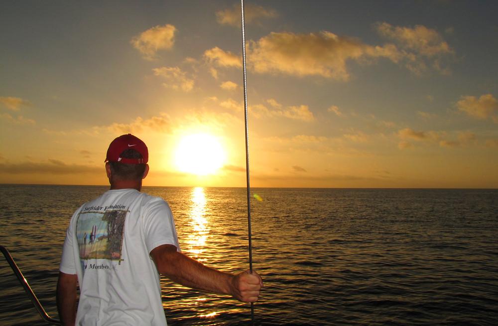 coral sea sunset