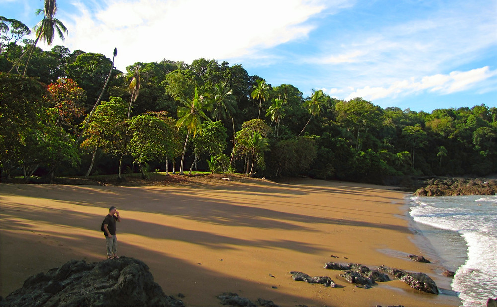 secluded costa rica beach
