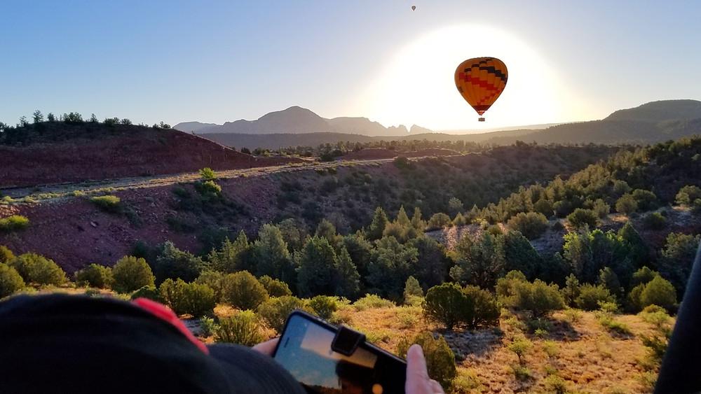 red rock balloon adventures hot air balloon ride