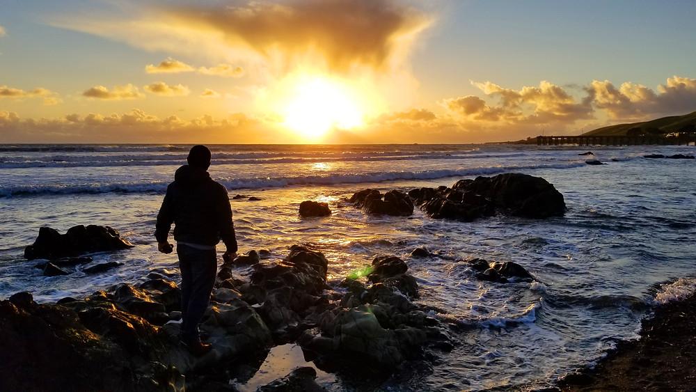 cayucos california sunset