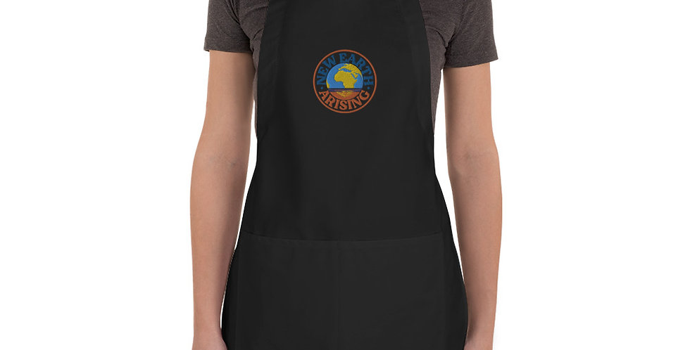New Earth Arising Embroidered Apron