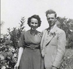 Aline et Jean-Paul jeunes mariés