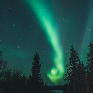 Costa Oeste Canadense e Aurora Boreal