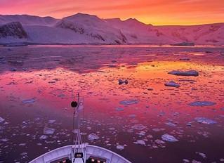 As cores  surpreendentes da Antártica