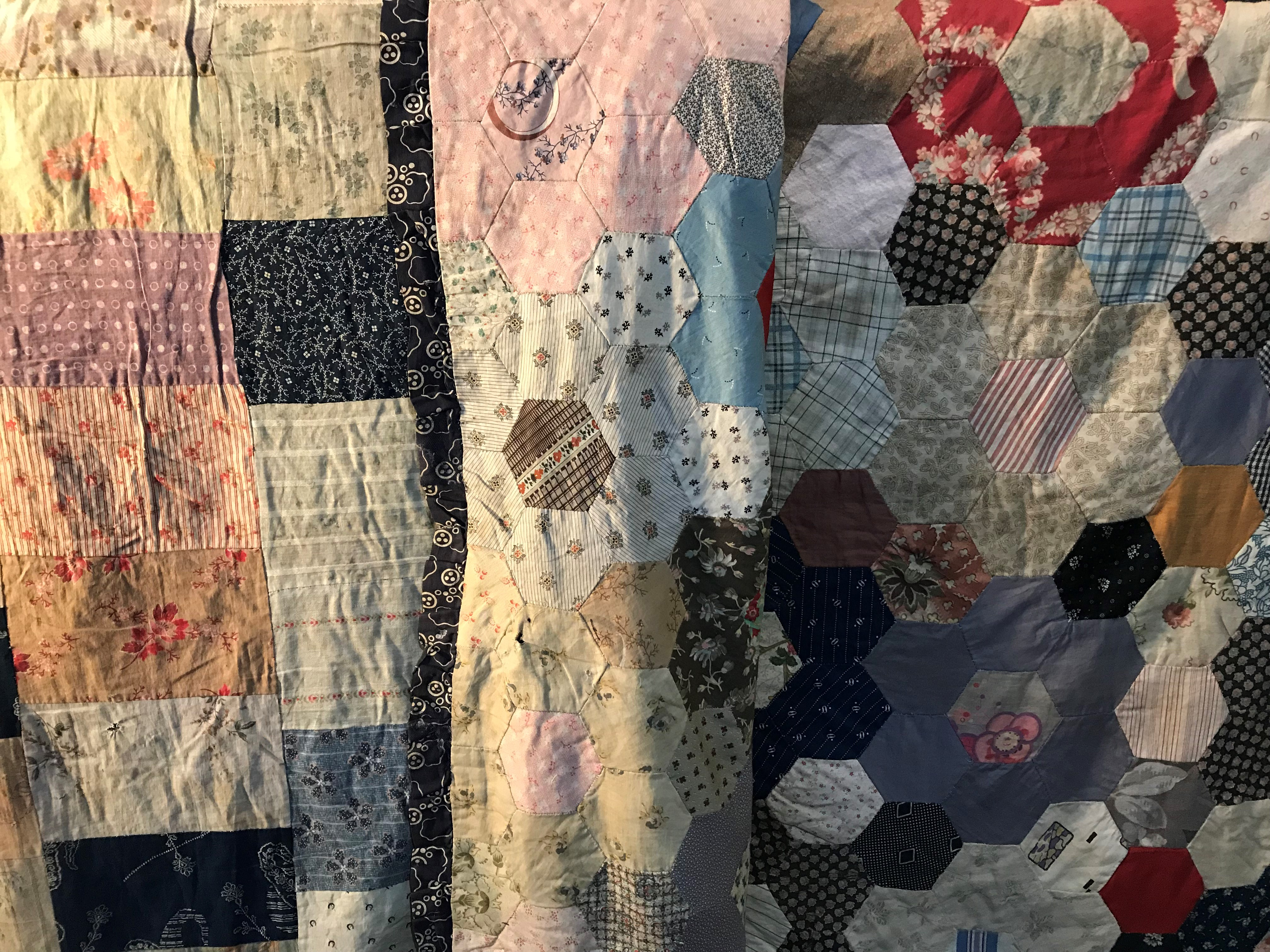 Quilt detail on display in Ark 2018 (002