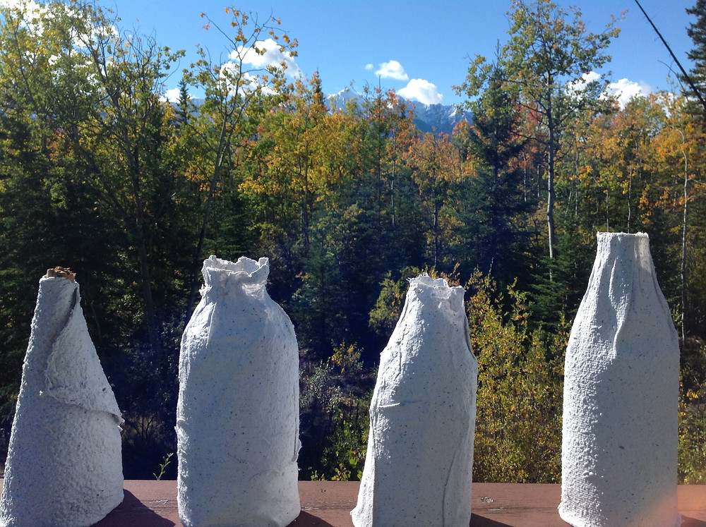 Sunny autumn days perfect for making paper bottles.