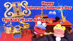 "Let's sing ""The Kid's World Anthem"" 「世界子供国歌」"