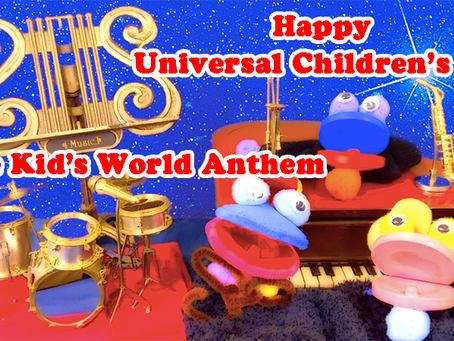 "Let's sing ""The Kid's World Anthem"" 「世界子供国歌」"