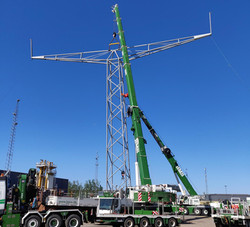 Full scale prototype, successfully tested. Photo: Valmont SM