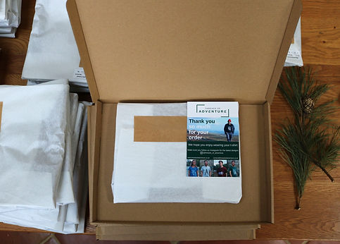 Plastic free packaging for cycling t-shirts