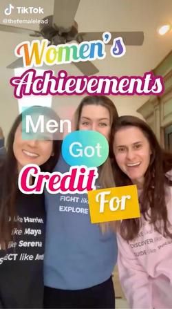 Women's Achievements men got credit for!
