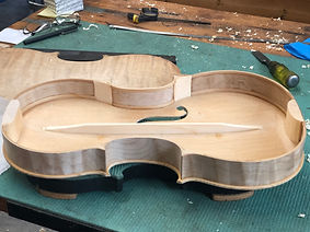 A viola in progress