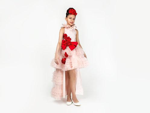 Pink Long Tail Dress