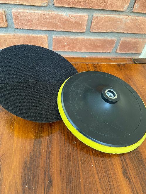 Base para disco de polimento com velcro e espuma