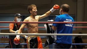 佐藤友紀選手、1R1分9秒TKO勝ち!