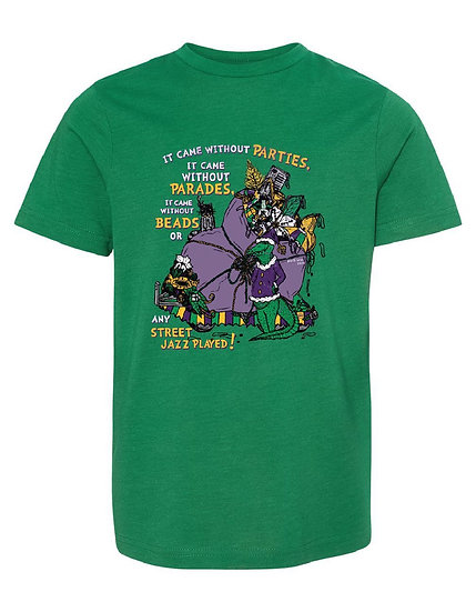 Grinchy Gras **TODDLER & YOUTH** Tees & Long Sleeves