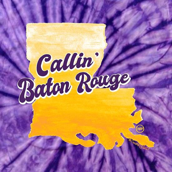 Callin' Baton Rouge Tiedye Tee YOUTH
