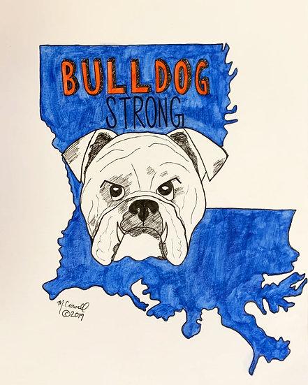 Bulldog Strong Print