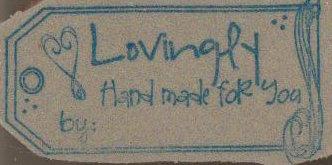 Lovingly handmade tag