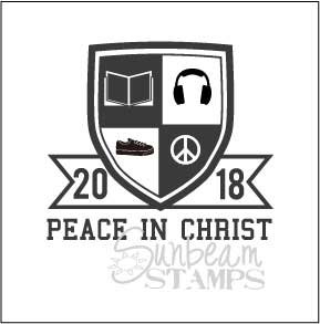 Peace in Christ shield