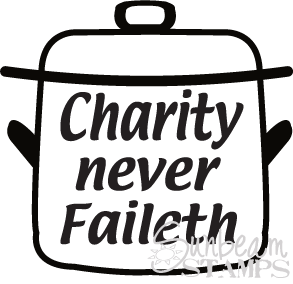 Charity never faileth pot