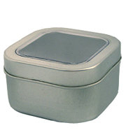 Square Tin w Window 4oz.