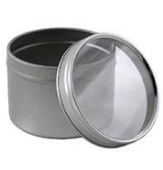 Round Tin w Window 4oz, Deep