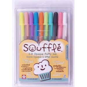 Sakura Souffle 3D OPAQUE ink pens set of 10
