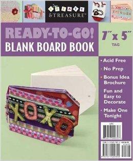 "Ready-to-go Blank board book 7"" x 5"" tag"