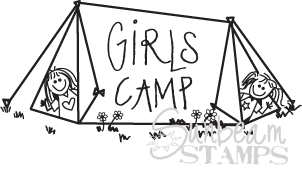 Girl's camp tent
