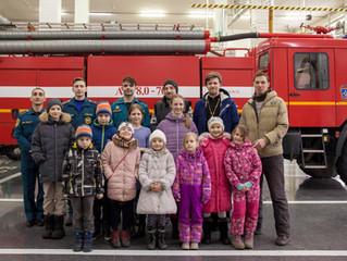 Воспитанники Воскресной школы при Вознесенском храме посетили с экскурсией пожарно-спасательную част
