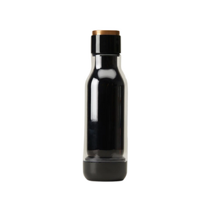 Charcoal Glass Water Bottle