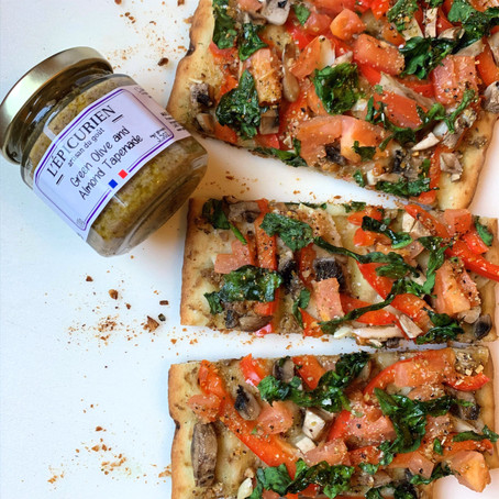 Green Olive & Almond Tapenade Flat Bread