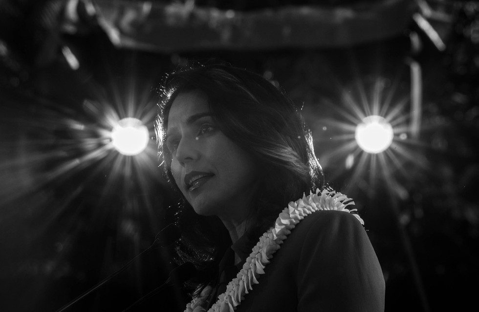 U.S. Rep. Tulsi Gabbard of Hawaii officially launches her 2020 Presidential Campaign at Waikiki, Hawaii on February 2nd, 2019