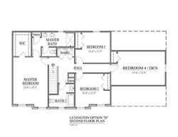 9- Lexington B Second Floor Plan Right