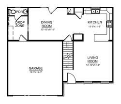 Avery Kitchen Style B First floor Plan