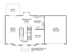 8- Lexington B First Floor Plan Right