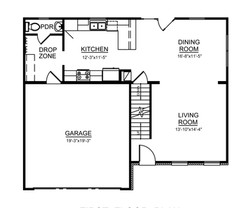 Avery Kitchen Style A First floor Plan