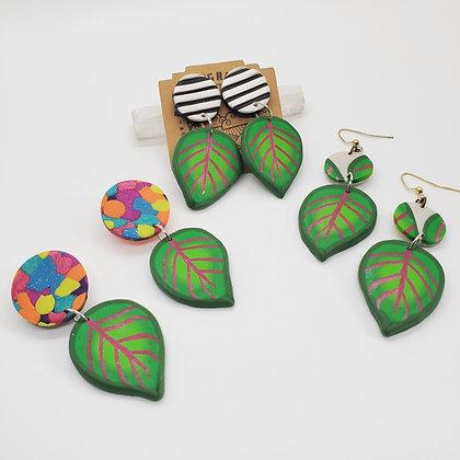 Prayer Leaf Earrings