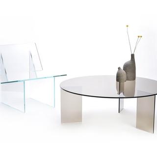 Glassvariations 3 MONOLOG low table in b