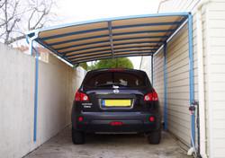 Abri voiture en aluminium et toile