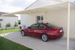 Abri voiture toiture toile tendue