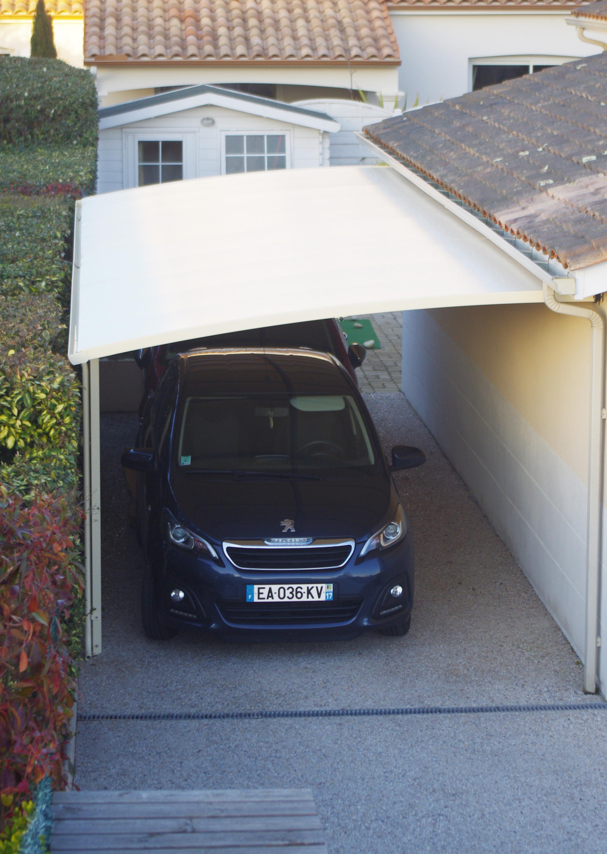 Abri voiture toile tendue