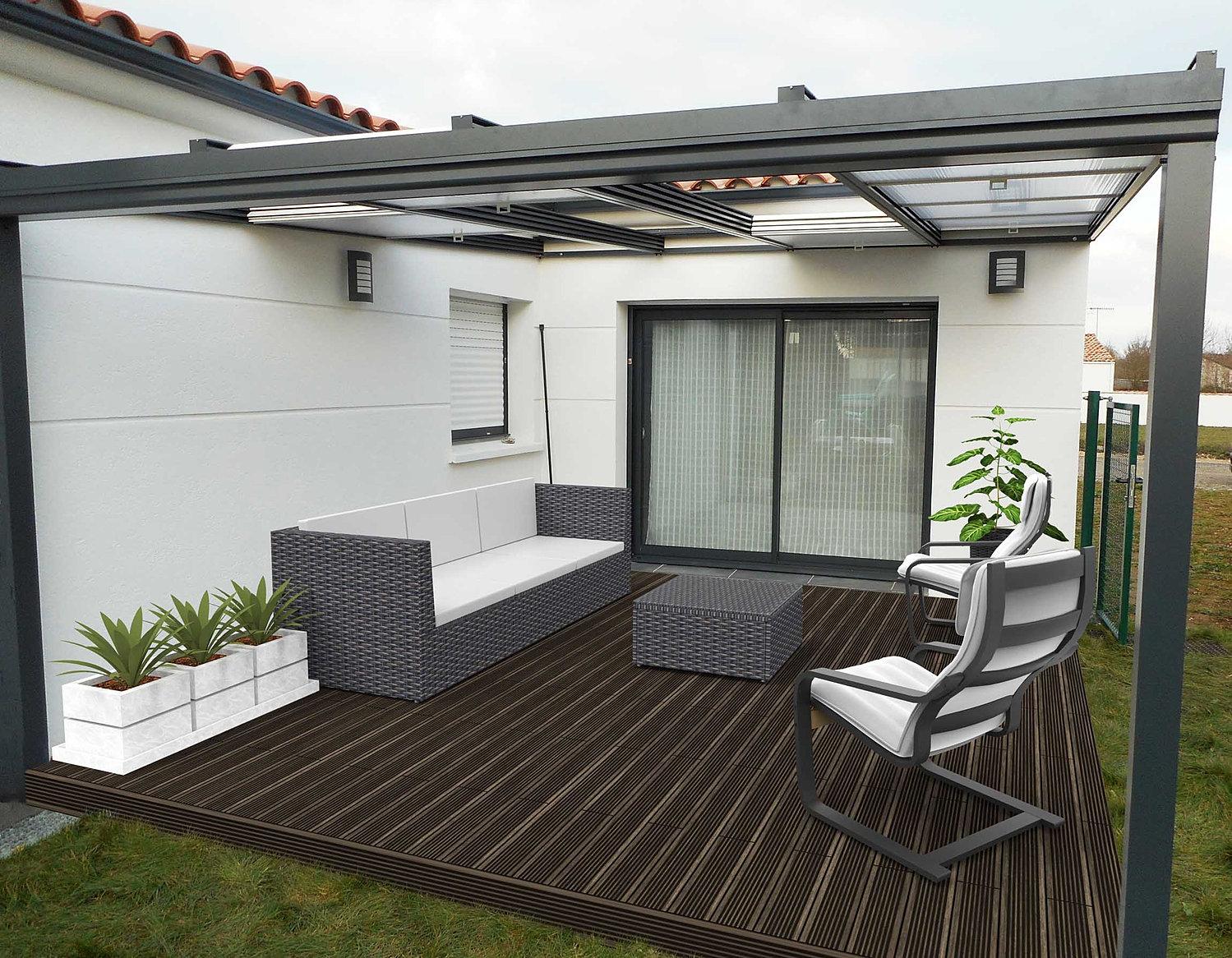 pergola aluminium le site des pergolas alu pergola coulissante. Black Bedroom Furniture Sets. Home Design Ideas