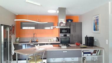 Puits de lumière dans une cuisine après